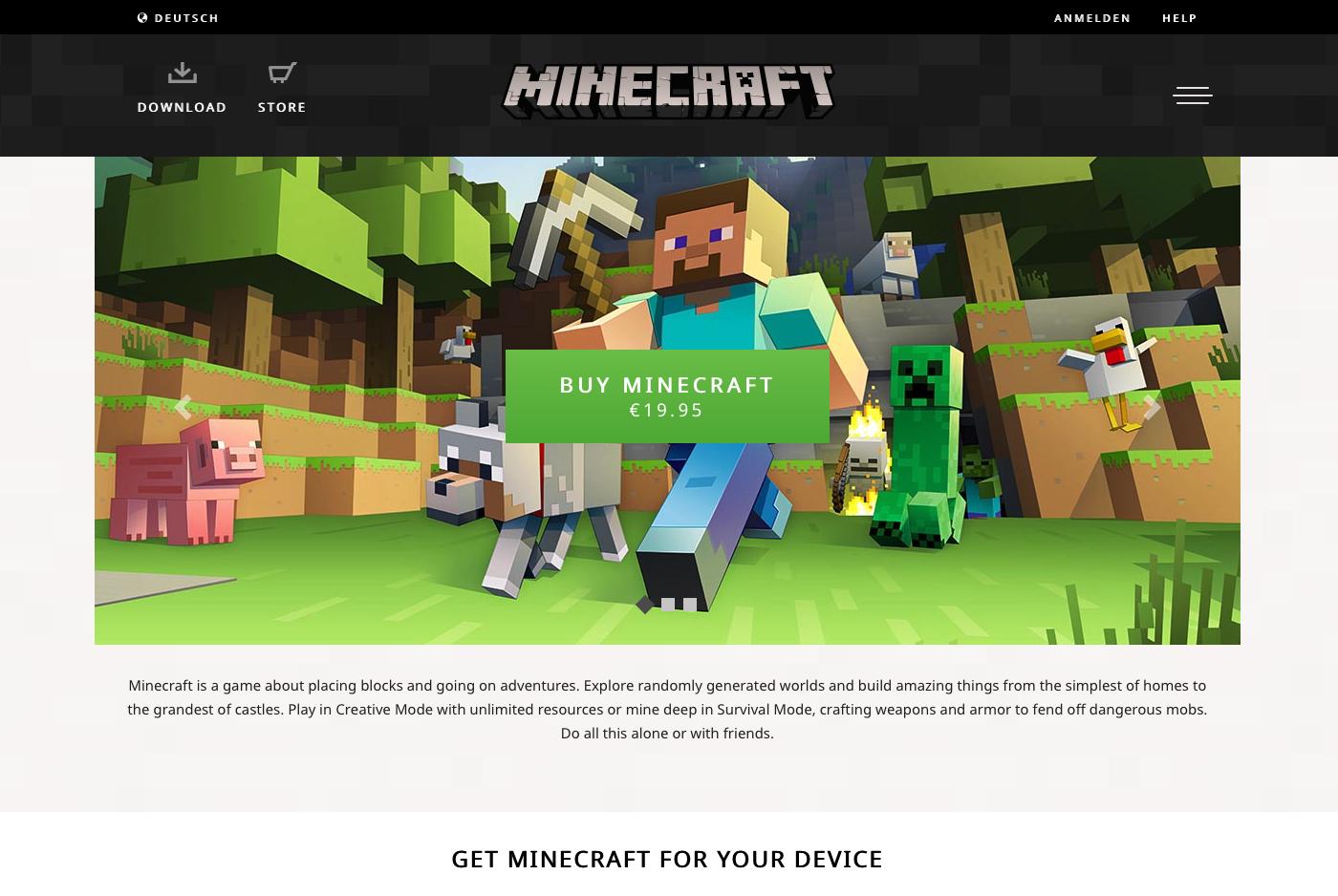 Neues Minecraftnet Design - Minecraft spieler melden